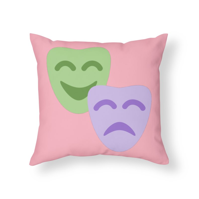 Drama Emoji Home Throw Pillow by XpressYourPower Shop