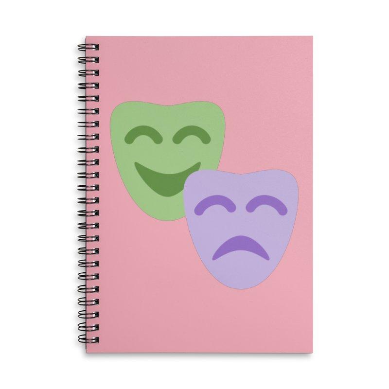 Drama Emoji Accessories Lined Spiral Notebook by XpressYourPower Shop