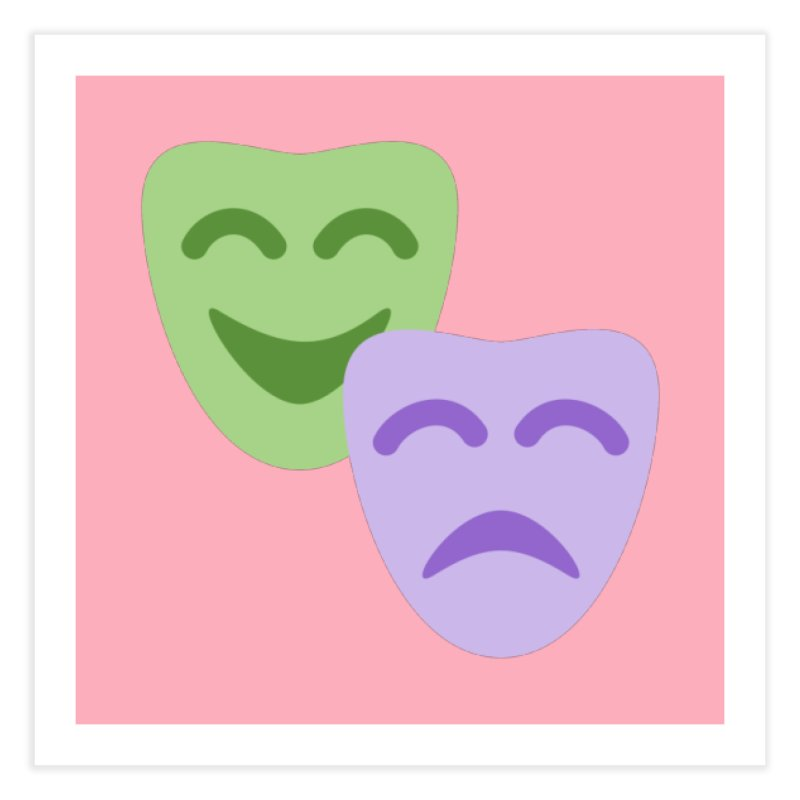 Drama Emoji Home Fine Art Print by XpressYourPower Shop