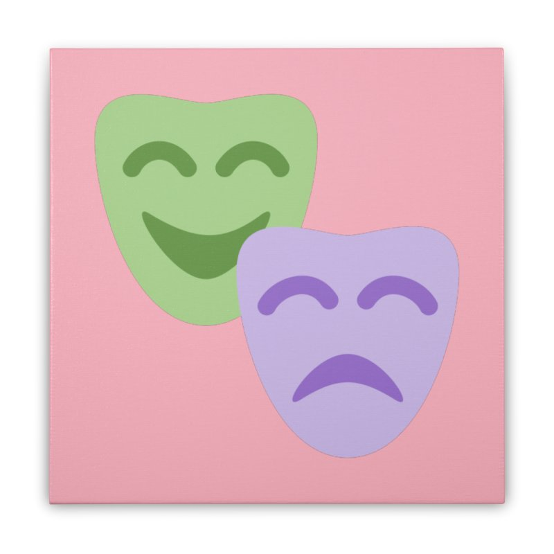 Drama Emoji Home Stretched Canvas by XpressYourPower Shop