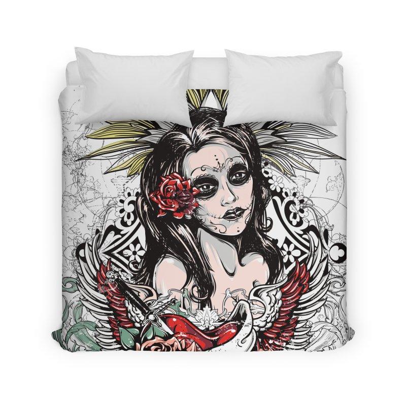 Dead Queen Home Duvet by xristastavrou