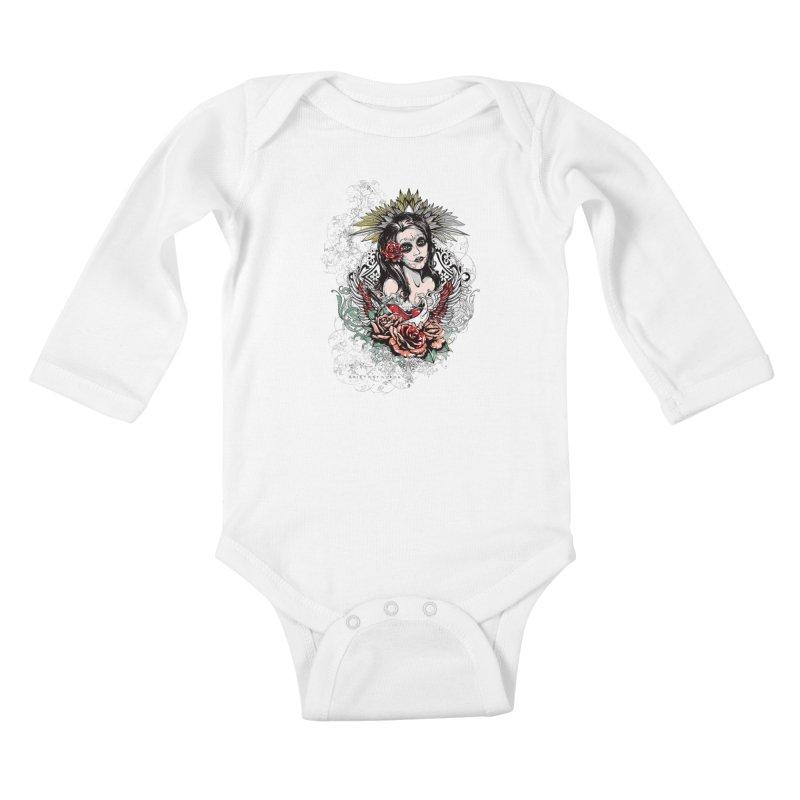 Dead Queen Kids Baby Longsleeve Bodysuit by xristastavrou