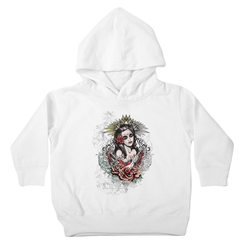 Dead Queen Kids Toddler Pullover Hoody by xristastavrou