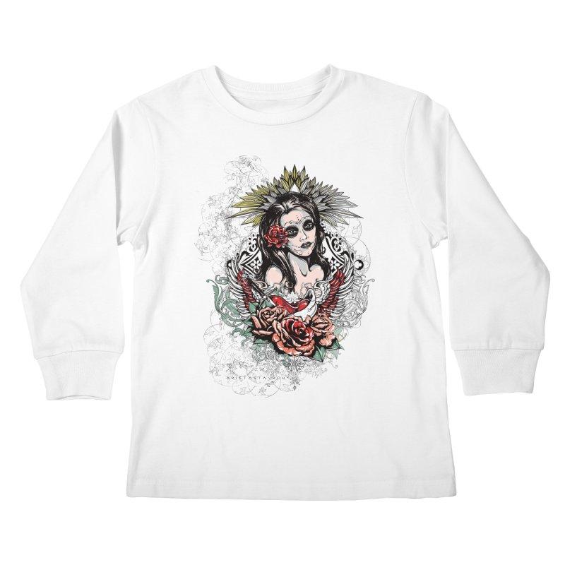 Dead Queen Kids Longsleeve T-Shirt by xristastavrou