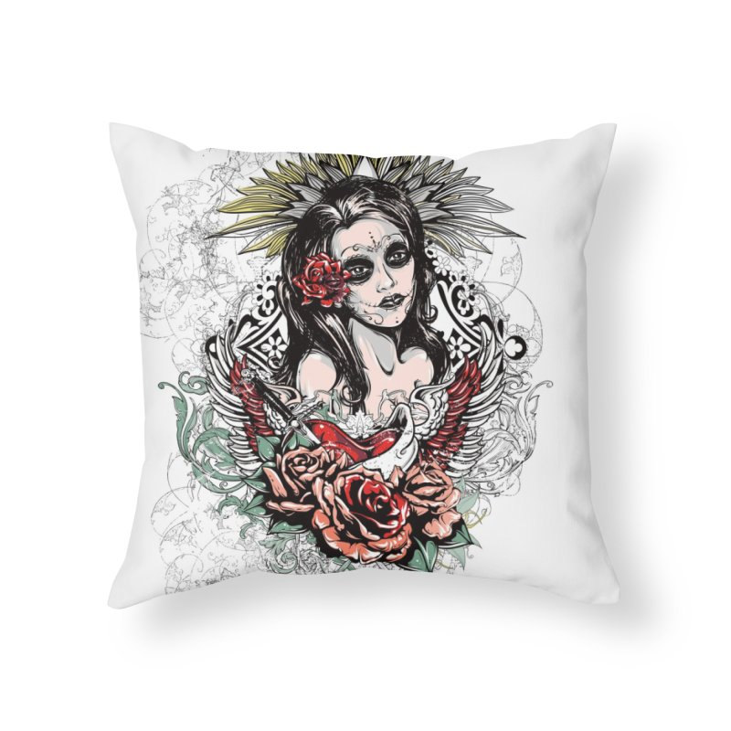 Dead Queen Home Throw Pillow by xristastavrou