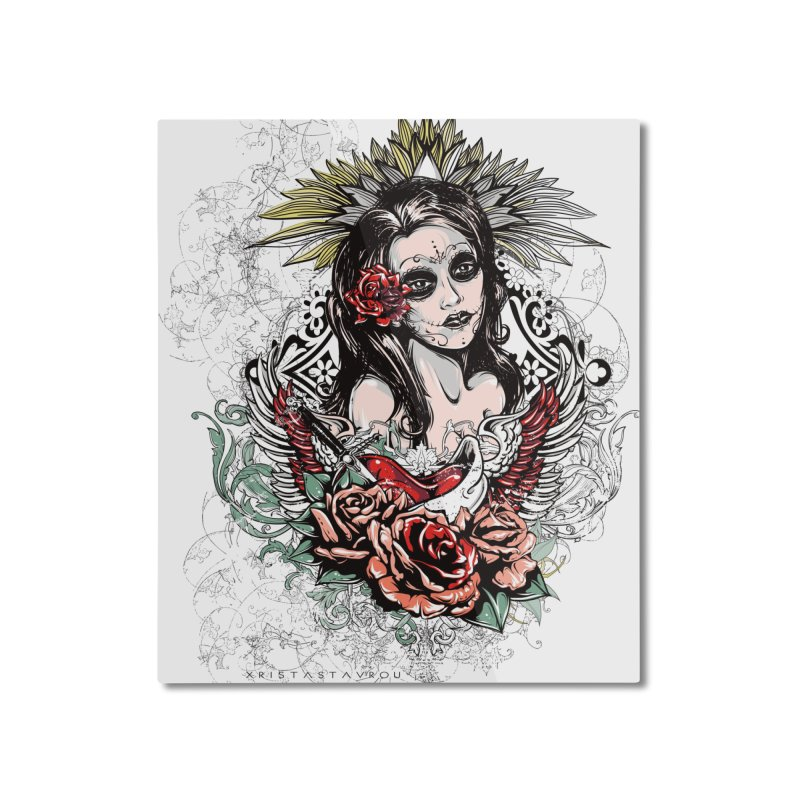 Dead Queen Home Mounted Aluminum Print by xristastavrou