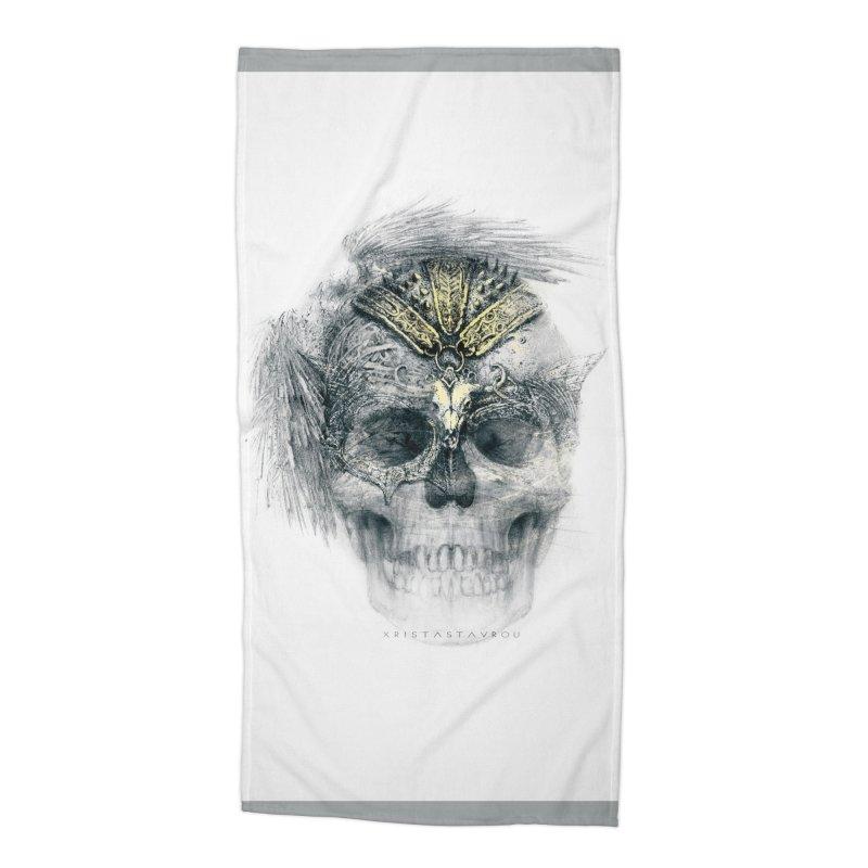 Skull Warrior Accessories Beach Towel by xristastavrou