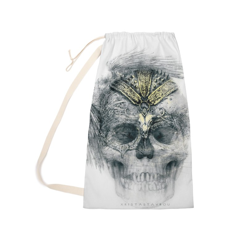 Skull Warrior Accessories Laundry Bag Bag by xristastavrou