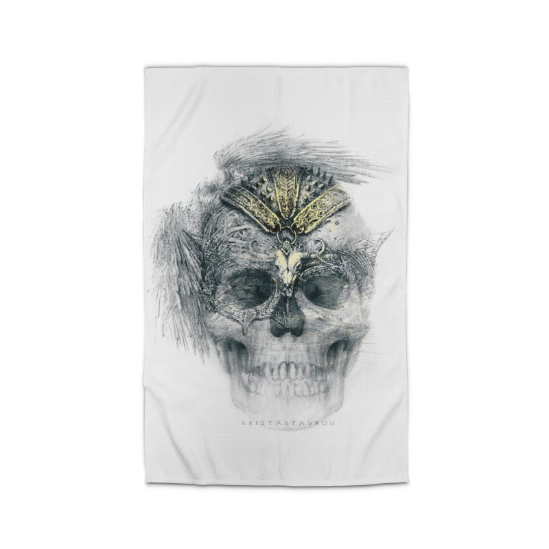Skull Warrior Home Rug by xristastavrou