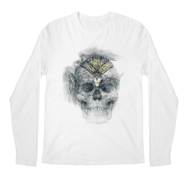 Skull Warrior Men's Regular Longsleeve T-Shirt by xristastavrou