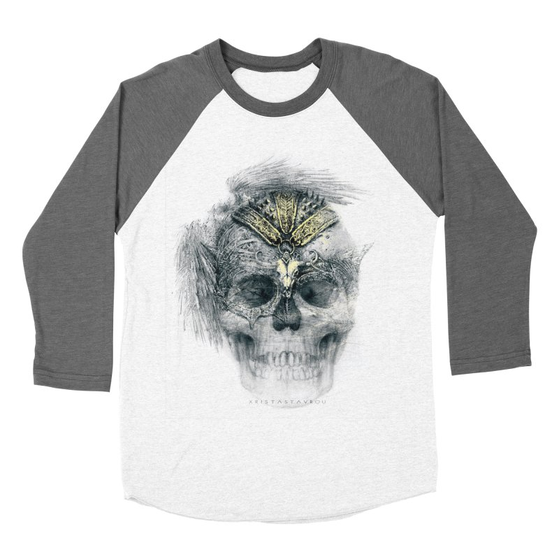 Skull Warrior Women's Baseball Triblend Longsleeve T-Shirt by xristastavrou