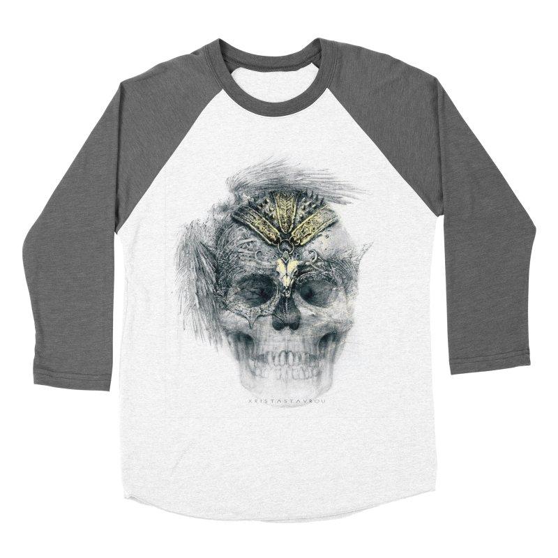 Skull Warrior Men's Baseball Triblend Longsleeve T-Shirt by xristastavrou
