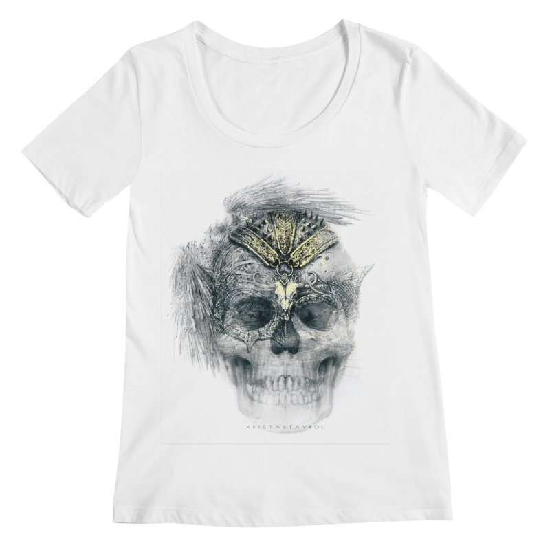 Skull Warrior Women's Regular Scoop Neck by xristastavrou