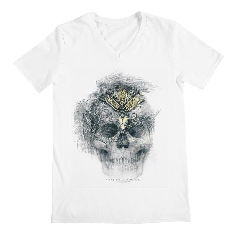 Skull Warrior Men's Regular V-Neck by xristastavrou