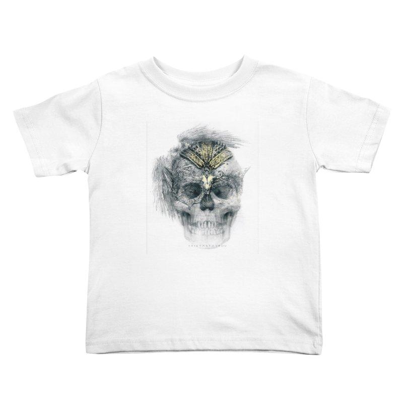 Skull Warrior Kids Toddler T-Shirt by xristastavrou