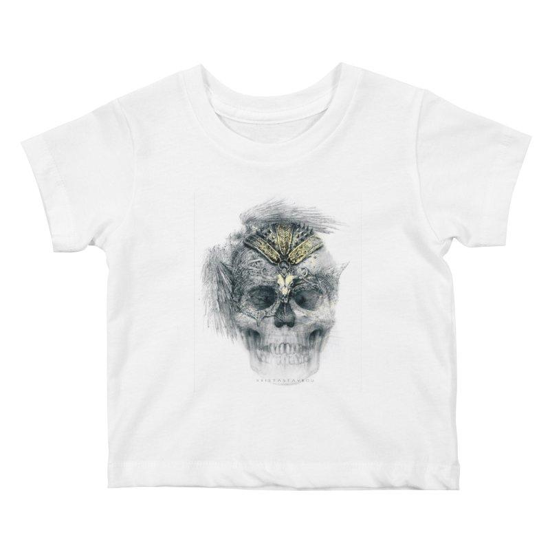 Skull Warrior Kids Baby T-Shirt by xristastavrou