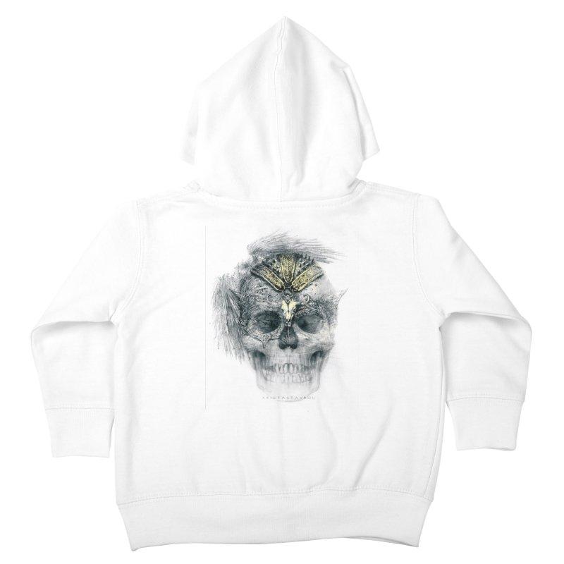 Skull Warrior Kids Toddler Zip-Up Hoody by xristastavrou