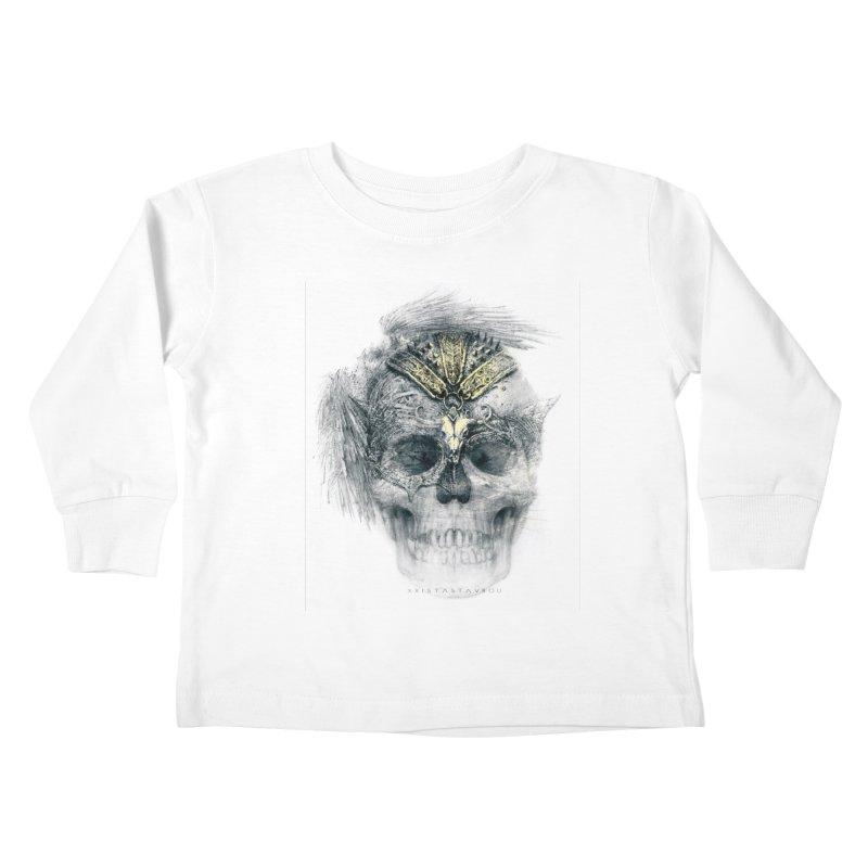 Skull Warrior Kids Toddler Longsleeve T-Shirt by xristastavrou