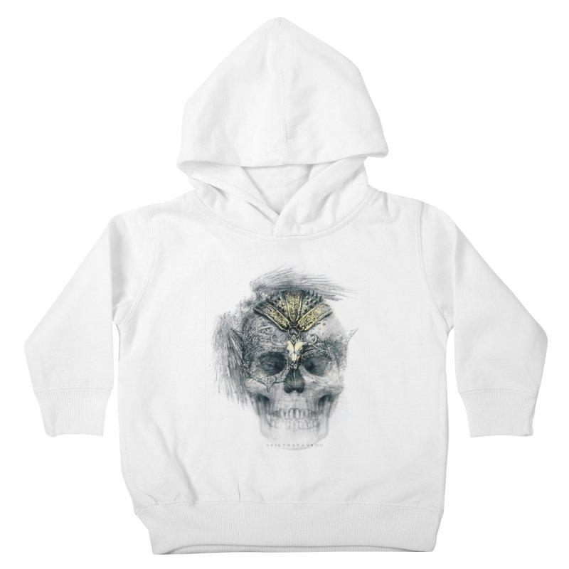 Skull Warrior Kids Toddler Pullover Hoody by xristastavrou