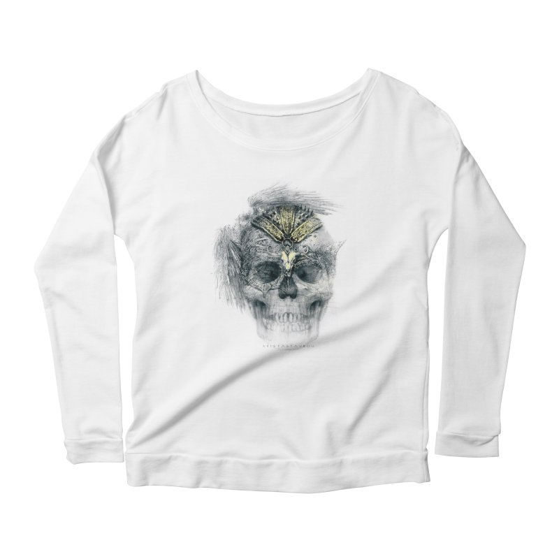 Skull Warrior Women's Scoop Neck Longsleeve T-Shirt by xristastavrou