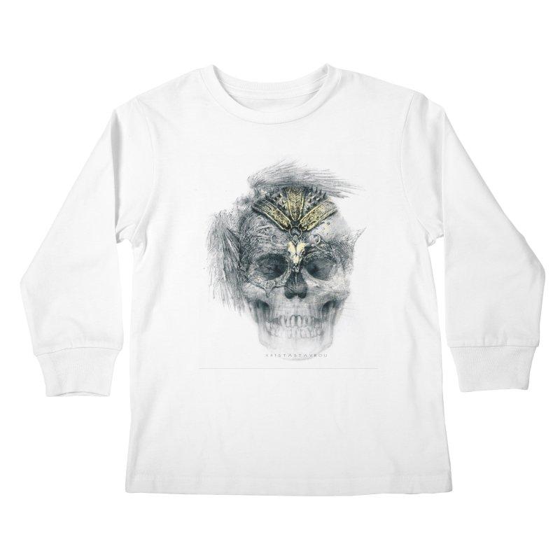 Skull Warrior Kids Longsleeve T-Shirt by xristastavrou
