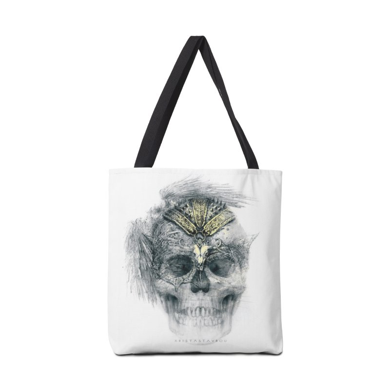 Skull Warrior Accessories Tote Bag Bag by xristastavrou