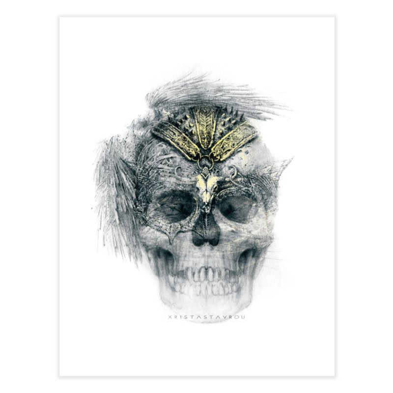 Skull Warrior Home Fine Art Print by xristastavrou