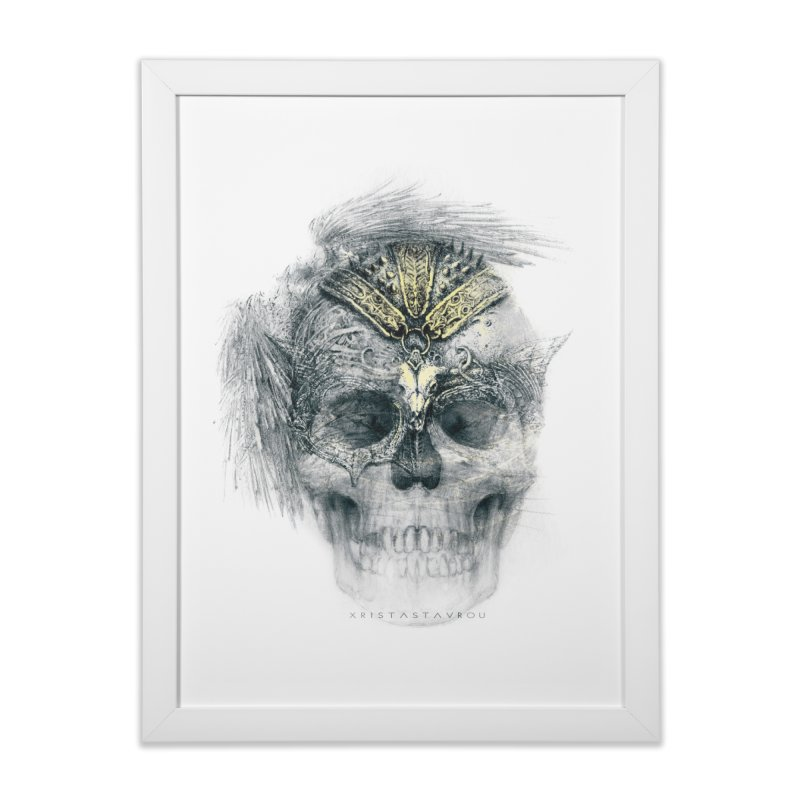 Skull Warrior Home Framed Fine Art Print by xristastavrou