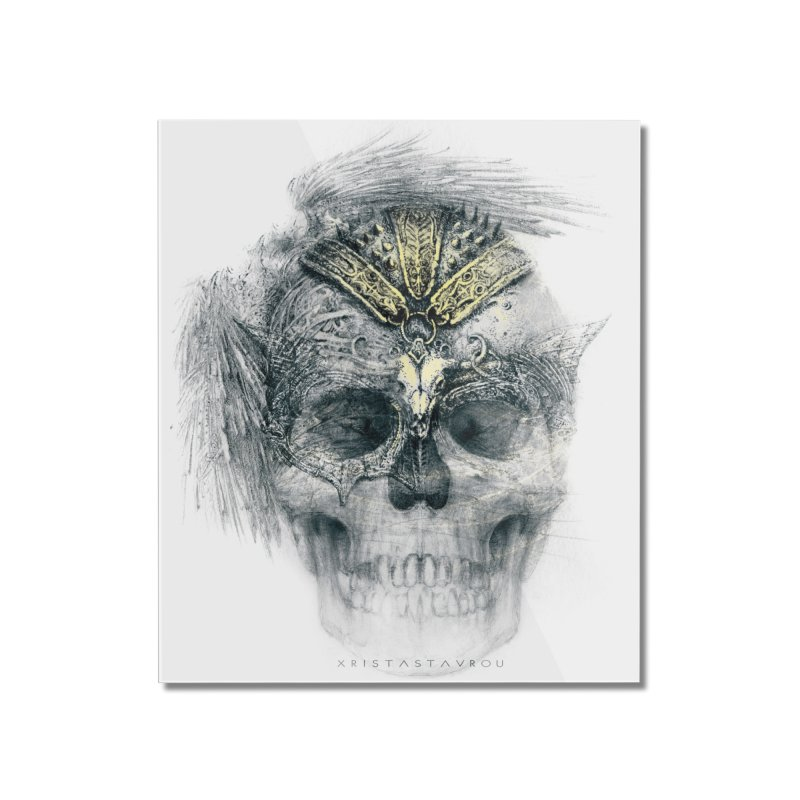 Skull Warrior Home Mounted Acrylic Print by xristastavrou