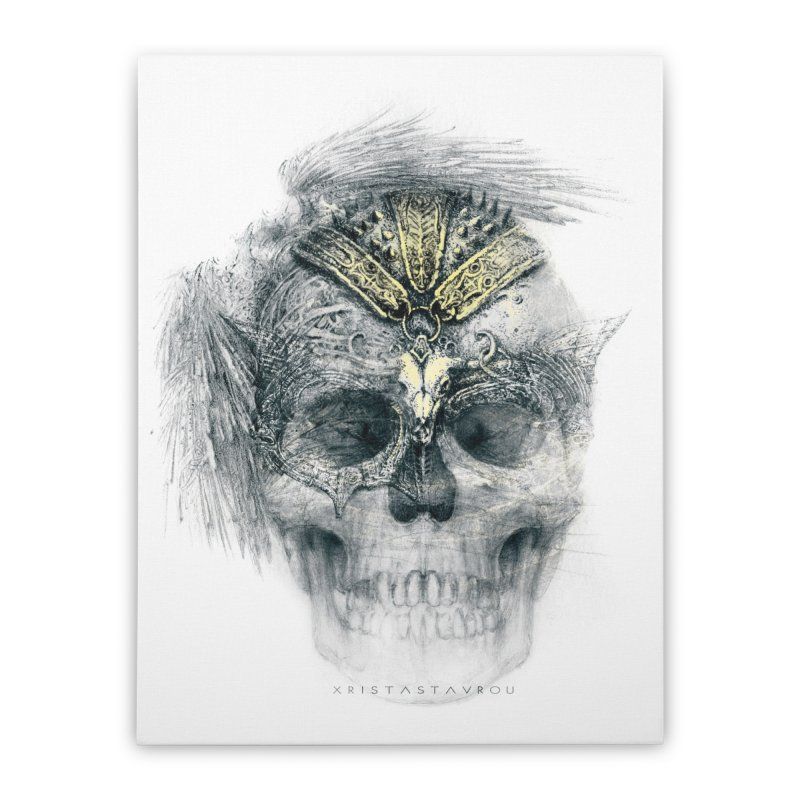 Skull Warrior Home Stretched Canvas by xristastavrou