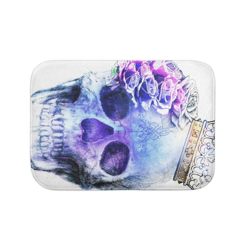 Skull Queen Blue Home Bath Mat by xristastavrou