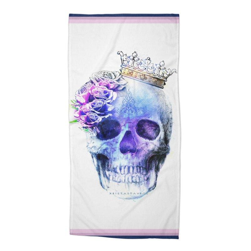 Skull Queen Blue Accessories Beach Towel by xristastavrou