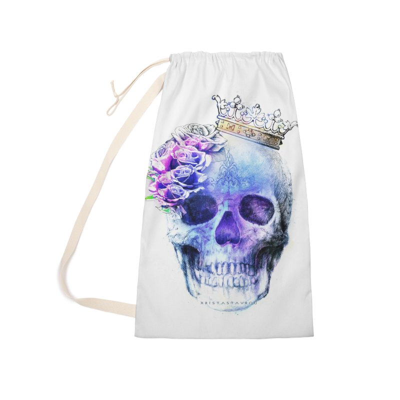 Skull Queen Blue Accessories Laundry Bag Bag by xristastavrou