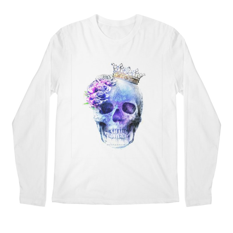 Skull Queen Blue Men's Regular Longsleeve T-Shirt by xristastavrou