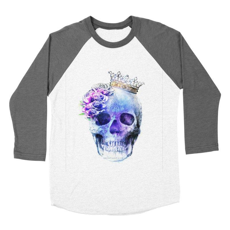 Skull Queen Blue Women's Baseball Triblend Longsleeve T-Shirt by xristastavrou