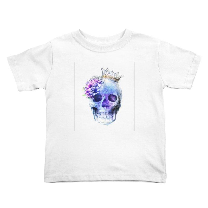 Skull Queen Blue Kids Toddler T-Shirt by xristastavrou