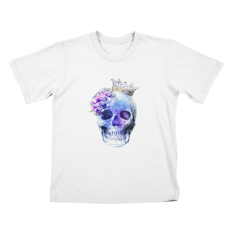 Skull Queen Blue Kids T-Shirt by xristastavrou