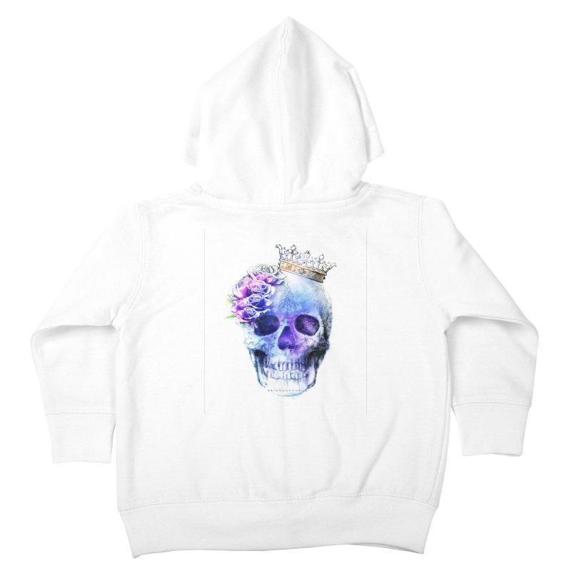 Skull Queen Blue Kids Toddler Zip-Up Hoody by xristastavrou