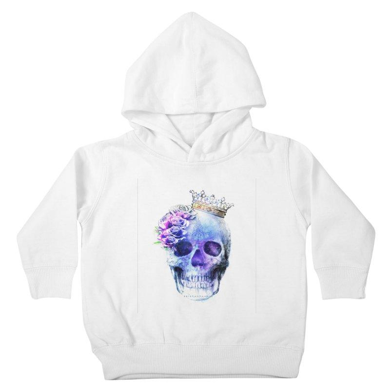Skull Queen Blue Kids Toddler Pullover Hoody by xristastavrou