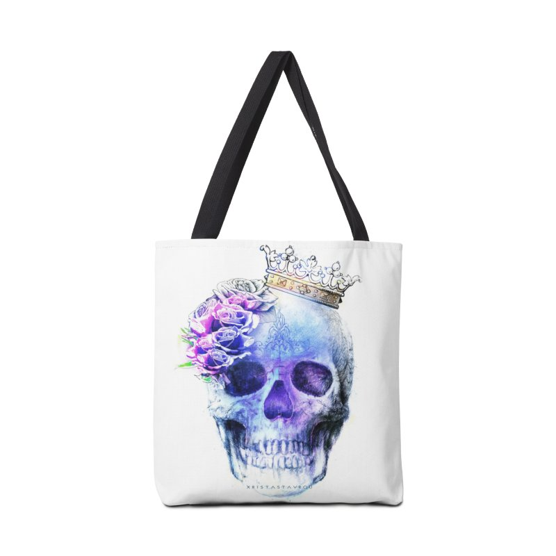 Skull Queen Blue Accessories Bag by xristastavrou