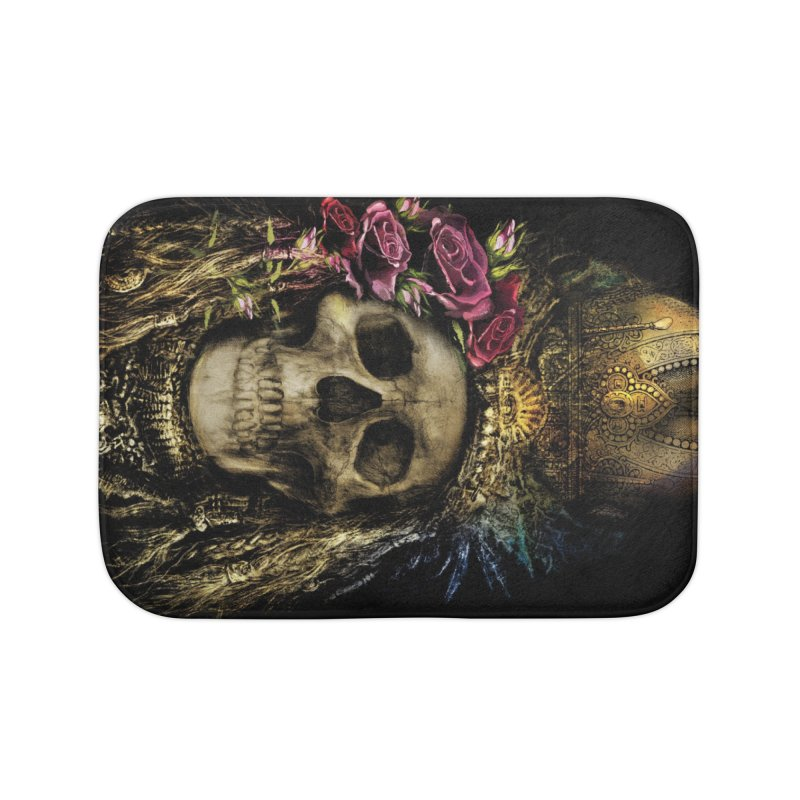 Skull Queen with Roses V2 Home Bath Mat by xristastavrou