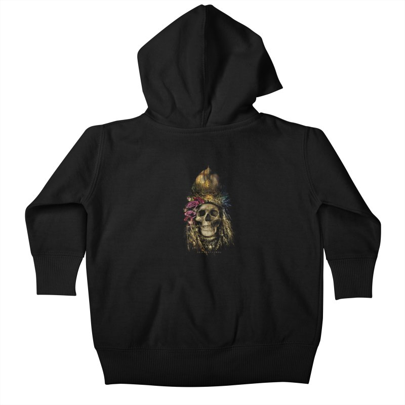 Skull Queen with Roses V2 Kids Baby Zip-Up Hoody by xristastavrou