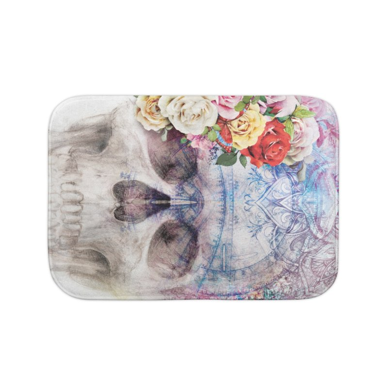 Skull Queen with Butterflies Home Bath Mat by xristastavrou