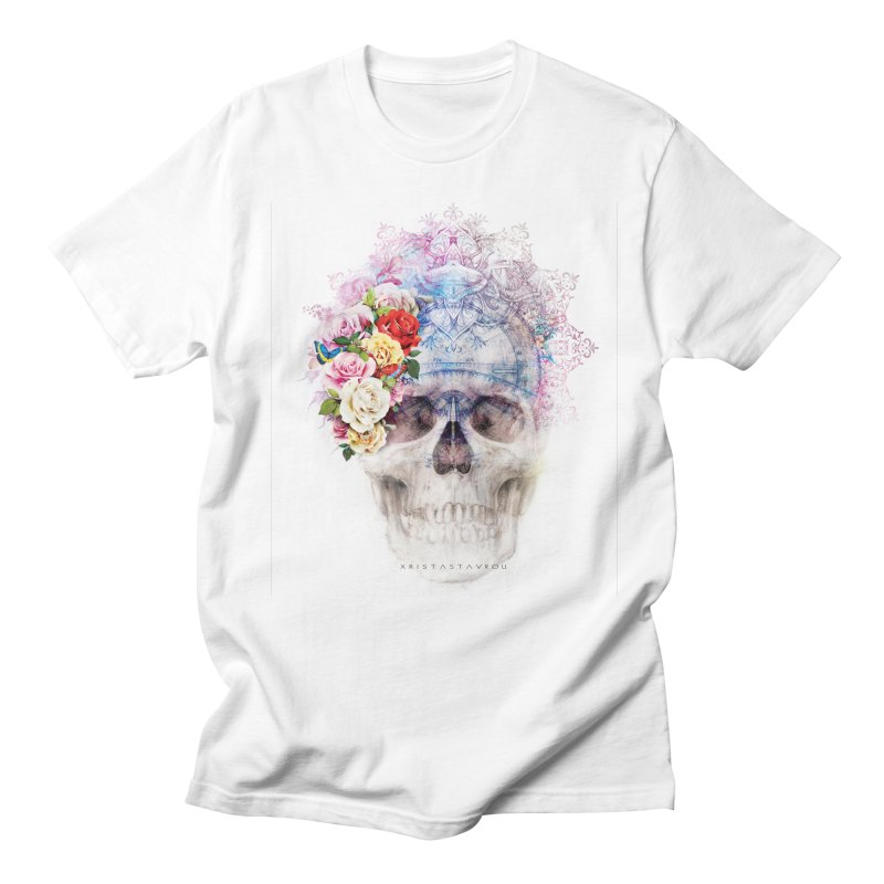 Skull Queen with Butterflies Women's Regular Unisex T-Shirt by xristastavrou