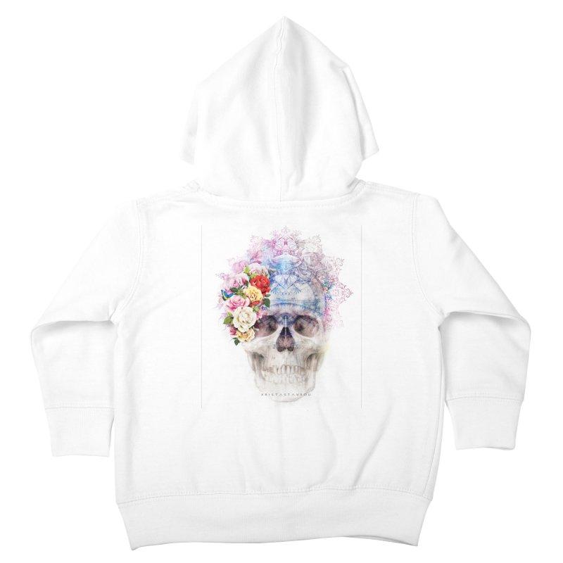 Skull Queen with Butterflies Kids Toddler Zip-Up Hoody by xristastavrou
