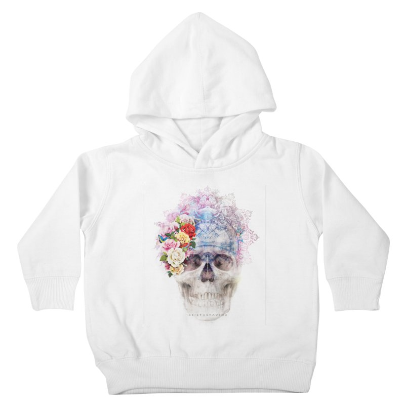 Skull Queen with Butterflies Kids Toddler Pullover Hoody by xristastavrou