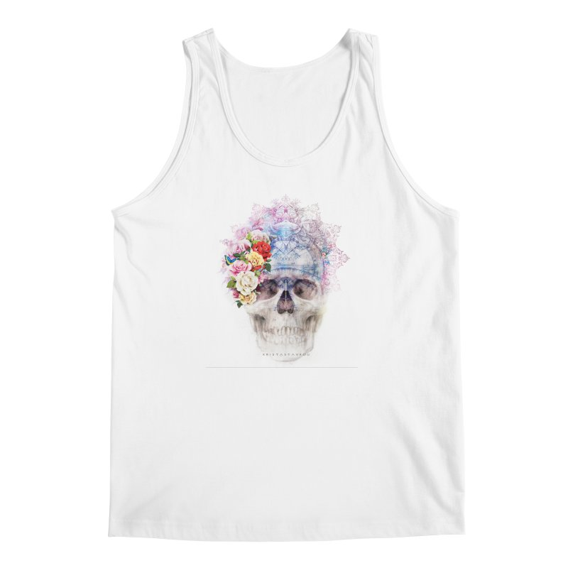 Skull Queen with Butterflies Men's Regular Tank by xristastavrou