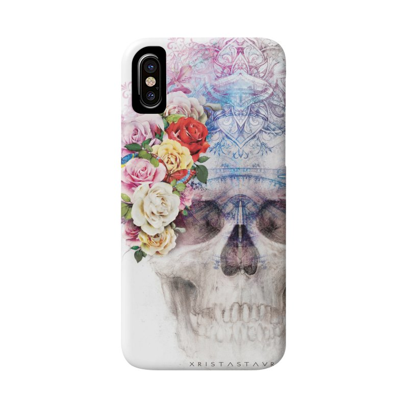 Skull Queen with Butterflies Accessories Phone Case by xristastavrou