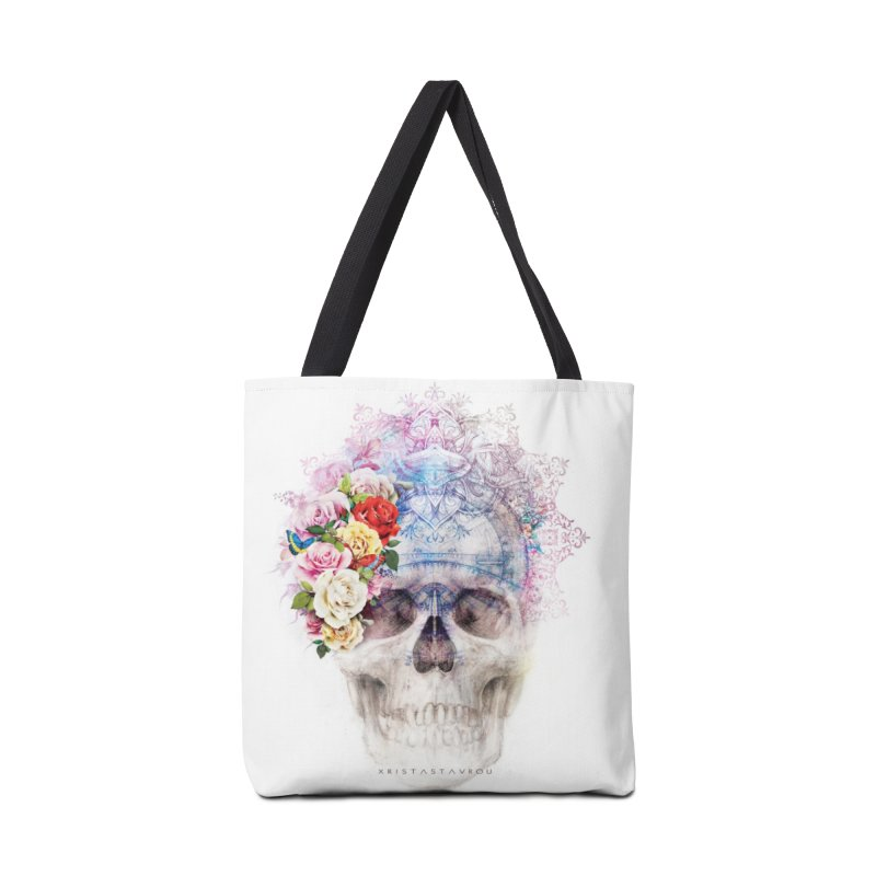 Skull Queen with Butterflies Accessories Tote Bag Bag by xristastavrou