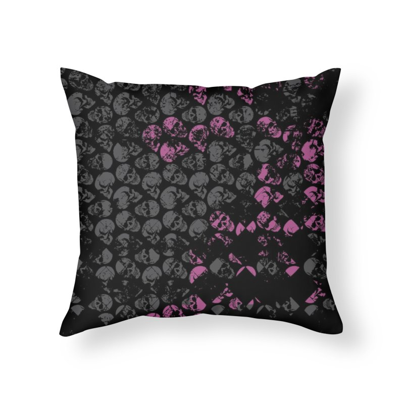 Skulls Pink Home Throw Pillow by xristastavrou